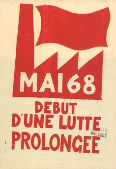 Atelier populaire, ex-école des Beaux Arts, affiche, Paris, Mai 1968