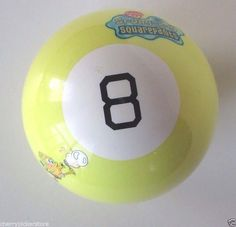 Spongebob Squarepants RARE Magic 8 Ball Yellow  #Nickelodeon