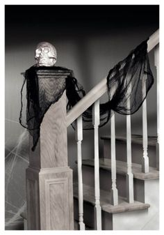 Black Cheesecloth Drape #halloween #decor