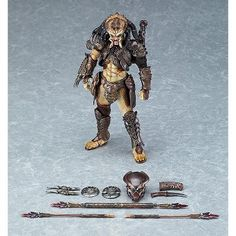 From Good Smile. From the classic sci-fi action movie Predator 2 comes a figma action figure of a Predator, specially designed by sculptor Takayuki T… Frank Cho, Star Citizen, Ghost Rider, Batgirl, Overwatch, Aliens, Predator Action Figures, Captain Marvel Shazam, Predator 2