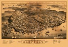 Bird's eye view of Eastport, Washington County Maine. 1879 Year: 1879 City: Eastport County: Washington State: Maine Country: United States