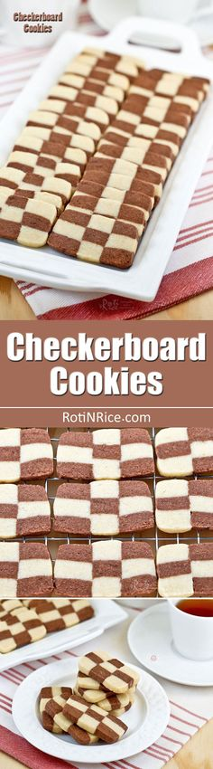 These egg free vanilla and chocolate flavored Checkerboard Cookies are light and buttery. They are perfect for tea time or special occasions.   RotiNRice.com