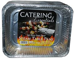 Catering Essentials Half Size Deep Foil Steam Table Pan - Pack of 30