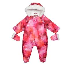 3c6805615a70 Ted Baker Baby Girls Snowsuit Mittens Pink Wadded DESIGNER Newborn Gift 0-3  M for sale online