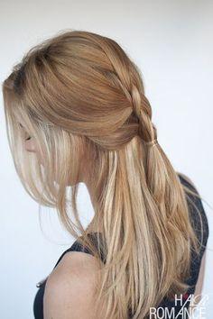 Easy everyday hair – Half-up Dutch braid tutorial | Hair Romance | Bloglovin'