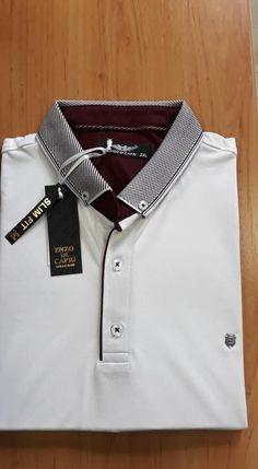 enzo di capri été 2019 Polo Shirt Design, Polo Design, Printed Polo Shirts, Polo T Shirts, Polo Rugby Shirt, Moda Emo, Camisa Polo, Classic T Shirts, Shirt Designs