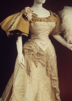 ~Worth Evening Dress, 1894, Brooklyn Museum Costume Collection at the Met~