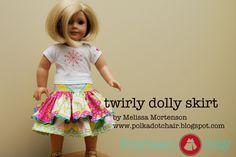 American girl doll, tutorial, sewing, twirly skirt,