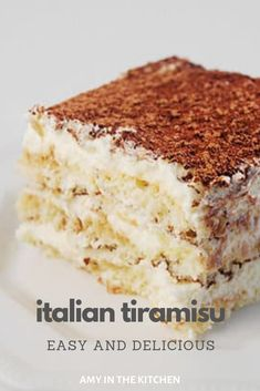 best Italian Tiramisu recipe that's so easy to make! It tastes just like authentic, traditional tiramisu from Italy! This classic dessert cake is perfect to serve anytime of the year! Authentic Tiramisu Recipe, Best Tiramisu Recipe, Tiramisu Cake, Traditional Tiramisu Recipe, Authentic Italian Desserts, No Cook Desserts, Just Desserts, Delicious Desserts, Dessert Recipes