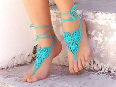 How do you like turquoise? Beautiful Barefoot Sandals NOW AVAILABLE! Handmade & Hand Sewn ~ Get Yours Now At Eclectic Artisans!
