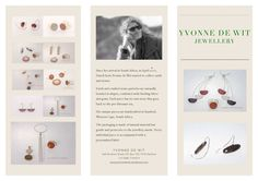 It took a while but at last the first brochure is ready. As the collection Of Yvonne de Wit Jewellery changes continuously (remember; unique handcrafted pieces) new models are introd. New Model, South Africa, Spaces, Models, Jewellery, Unique, Prints, Accessories, Collection