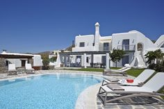 4 + 1 Bedroom Villa in Plaka area in Naxos! Proud member of Naxos Premium Luxury Villa Rentals, Next Holiday, Maine House, Outdoor Areas, Beautiful Islands, Great Places, Aqua, Coral, Swimming Pools