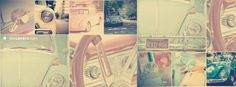 Vintage VW Beetle Girly Car Facebook Covers