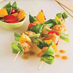 Spicy Thai Chicken Kabobs- shower idea.