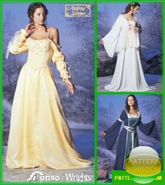 Simplicity 5843 Star Wars Medieval Princess Dress Patterns