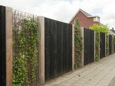 Tuinafscheiding Helmert Douglas schutting is part of Garden nook - Diy Fence, Backyard Fences, Garden Fencing, Backyard Landscaping, Fence Ideas, Backyard Ideas, Garden Nook, Interior Garden, Fence Design