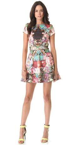 Nicholas Tapestry Print Scuba Skater Dress | SHOPBOP