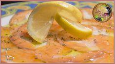 Ese carpaccio de salmón  con tomate natural... rico rico... ;-) Sabías que el tomate potencia el delicioso sabor del salmón?