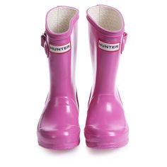 Ooooohhhh i love these for lucy!!!! A few years down the road though  'Original Kids' Pink Gloss Finish Rain Boots in a Bag - Shoes   Childrensalon