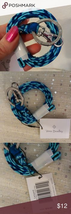Lanyard Vera Bradley Cuban Tiles blue This is a brand new lanyard in the two- tone blue pattern called Cuban Tiles.  So pretty!  I do have another listing with this lanyard and matching ID case together.  Price is FIRM unless bundled. Vera Bradley Accessories Key & Card Holders