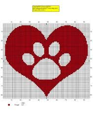 Resultado de imagen para cross stitch paw