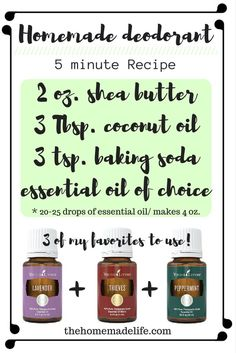 Making your own homemade deodorant is super simple, it only takes minutes to do! You are probably thinking that making your own deodorant is difficult, right? Well, let me tell you, it's not. This DIY deodorant recipe that I plan to share with you today is super simple. You can have it made in less than five minutes. http://www.thehomemadelife.com/how-to-make-homemade-deodorant/