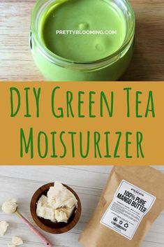 This is the recipe for a quick and simple DIY green tea moisturizer with nourishing oils and butters Leave In, Moisturizer For Oily Skin, Anti Aging Moisturizer, Natural Moisturizer For Face, Homemade Moisturizer, Tinted Moisturizer, Banana Face Mask, Green Tea Face, Diy Skin Care
