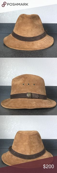 "RARE NWOT Goorin Bros Goldman suede hat NWOT Goorin Bros Hat Shop Goldman Outback Fedora in Rust Suede size L. Contrast brown leather band with Goorin emblem and brown contrast stitching on brim. Made in the USA. Looks great with boho dresses and Festival looks. Hat is Out of Stock and impossible to find at Goorin, from ""cut and sew"" handmade hat series. Goorin Bros Accessories Hats"