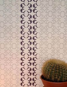 Jenny Wilkinson's Hammer Head Wallpaper-By-Numbers. Chic sharks you can color, who knew? #wallpaper #hgtv