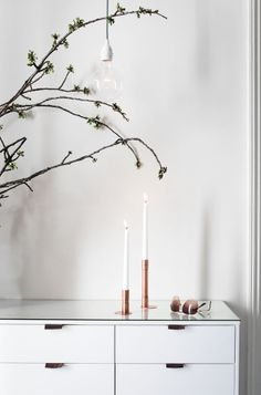 white with a touch of copper