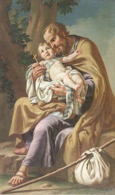 Vincenzo Angelo Orelli (1751-1813)  — Saint Joseph and the Christ Child, 1800  : Chiesa di San Rocco in Broseta, Bergamo. Italy  (600×1024)