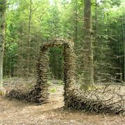 New to me, these wonderful land art installations by French artist Sylvain Meyer who modifies wooded areas and landscapes to create various impermanent patterns, sculptures, and textures. Everything seen here was constructed without the use of Photoshop, even the mossy spider