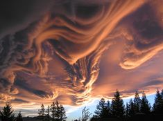 Meteorologists suspect that these are undulatus asperatus clouds — an entirely new cloud type that was proposed only three years ago by the Cloud Appreciation Society. The one featured here was photographed by Witta Priester in New Zealand. All Nature, Science And Nature, Amazing Nature, Nature Pictures, Storm Clouds, Sky And Clouds, Pastel Clouds, Beautiful Sky, Beautiful World