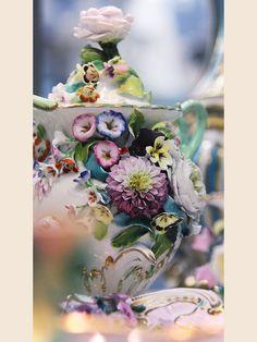 Incredible floral porcelain