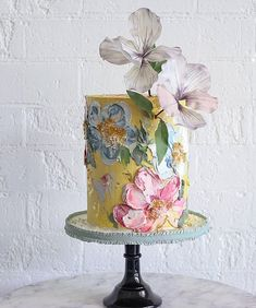 We take a look at one of the hottest cake trends right now and some of the artistic cake designers creating Spatula Painted Wedding Cake masterpieces. Big Wedding Cakes, Wedding Cake Designs, Wedding Cake Toppers, Wedding Card, Wedding Stationery, Fall Wedding, Rustic Wedding, Wedding Invitations, Bolo Floral