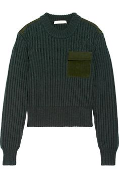 Dion Lee | Suede-trimmed wool and cashmere-blend sweater | NET-A-PORTER.COM