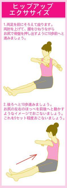 お尻歩きで腸腰筋を鍛えて骨盤の後傾を矯正する