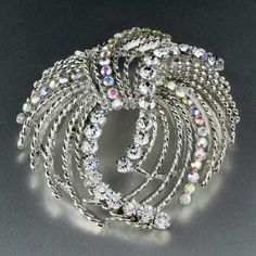 Pugster Circle Swarovski Crystal Brooches