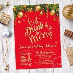 Christmas Invitation Christmas Party Invitation Winter