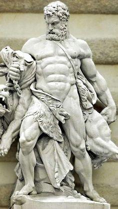 Hades Greek Mythology, Greek Mythology Tattoos, Statue Tattoo, Ancient Greek Sculpture, Greek Statues, Angel Statues, Roman Sculpture, Sculpture Art, Hercules Statue