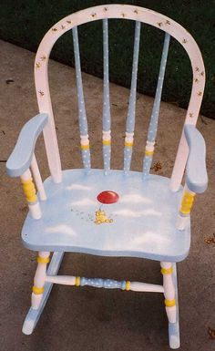 Winnie the Pooh rocking chair, kids furniture by babydreamdecor on Etsy