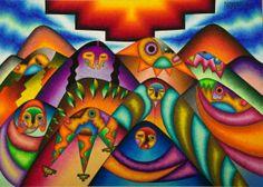 Bolivian artist Roberto Mamani Mamani, http://mamanimamani-bolivia.blogspot.com/
