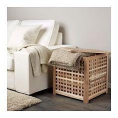 IKEA - HOL, Tavolino, Il legno massiccio è un materiale naturale resistente.Pratico vano contenitore sotto il piano.