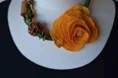 $35***Handmade Crochet Necklace With Wooden Accents***For more unique items please visit: http://www.etsy.com/shop/TsEclecticCorner