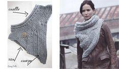 Tomad nota de todos los pasos y claves para hacer el popular chal de Katniss tejido a mano para estar bien preparados para el frío.