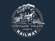 Wall murals and Wallpaper Murals of Locomotive logo illustration, vintage style emblem Photographer @ sodesignby. Wall mural renvation of your grey Space Logos Vintage, Logos Retro, Vintage Logo Design, Vintage Style, Locomotive, Logo Inspiration, Kreis Logo, Train Illustration, Circular Logo
