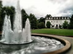 "North campus fountain - photo ops and ""studying"" on the lawn every day possible"