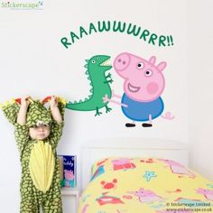 George with dinosaur wall sticker