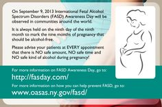 Medical providers can help prevent FASD -  Monday, Sept 9, is FASD Awareness Day  - let's spread the word that FASD is 100% preventable and open a dialogue