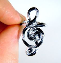 Treble Clef Adjustable ring by melissawoods on Etsy, what a creative idea!